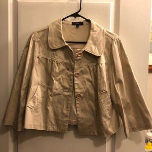 ❤️LUII - Beige Button-Up Jacket - Size L - EUC🌺